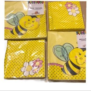 Other - BEE NAPKINS PARTY LARGE  SMALL COCKTAIL 4 pkgs